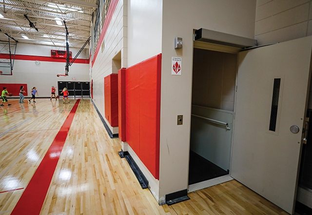 In order to avoid a federal funding cut, the Oostburg district spent the Act 10 savings in other ways, including almost $60,000 to install an elevator in its middle school. Photo by Jeffrey Phelps