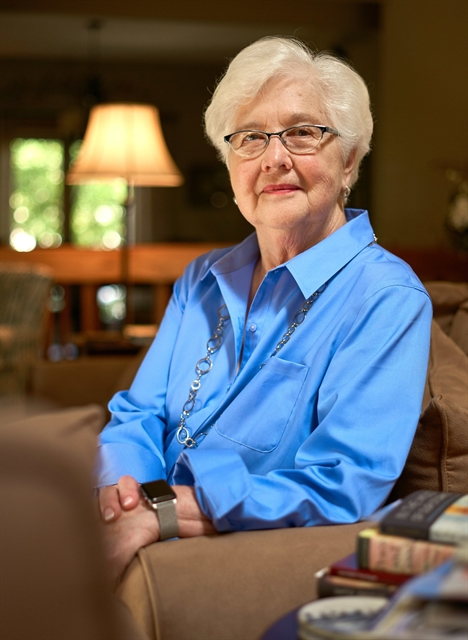 Margaret Farrow is photographed at her home in Pewaukee. DARREN HAUCK PHOTO