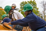 Blackwell students helped build a campus gazebo in 2015. The center provides training in welding, carpentry, bricklaying and construction labor. U.S. FOREST SERVICE PHOTO