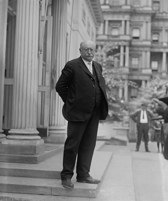 Berger, shown in 1923, was elected to Congress five times. Library of Congress photo.