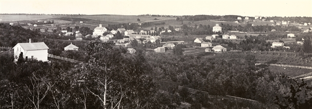 The Ceresco commune was located in a valley between two gentle hills in what is now the city of Ripon. Wisconsin Historical Society photo.