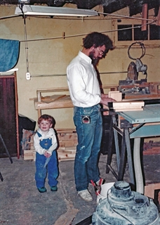 Ian often spent time at Sylvan Studios, the Wauwatosa shop of his dad, Peter. Sustar family photo.