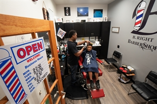 Jason Boatright opened B. Right Barbershop in March 2018. Photo by John Maniaci.